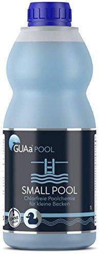 GUAa Pool Small Pool - chlorfreie Poolchemie für Schwimmbecken bis 20 m³ - Pool Desinfektion Wasserpflege ohne Chlor inkl. Algenschutz (1 Stück)