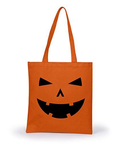 ppy Tooth Pumpkin Face Halloween Tote Bag Jack O Lantern Carving Design Standard - Herren - Standard (Vintage Halloween-jack O Laternen)