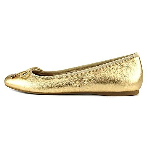 Coach Lara Metallic Cuir Chaussure Plate gold