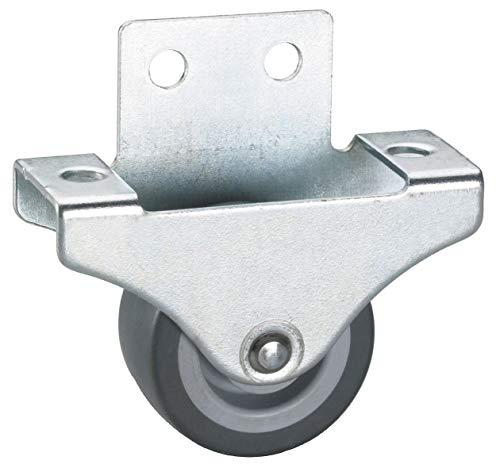 4 Stk. Parkett-Bockrolle 38x18 mm , TPE-Rad grau