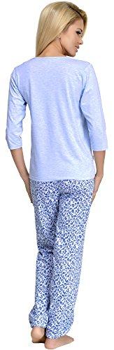 Merry Style Damen Schlafanzug 870 Blau