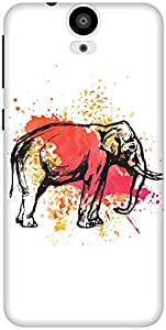The Racoon Grip The Painted Pachyderm hard plastic printed back case / cover for HTC One E9 Plus