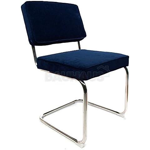 Cord sedie blu scuro/sedia da conferenza retrò