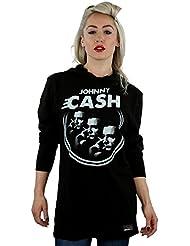 Johnny Cash Damen Kapuzenpullover, Kein Muster