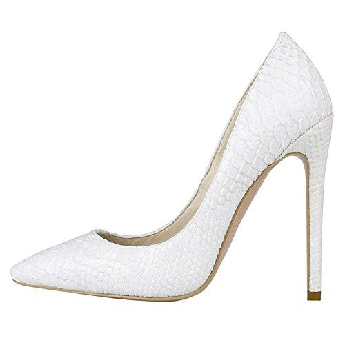EKS - Zapatos de Tacón Mujer, color beige, talla 45 EU