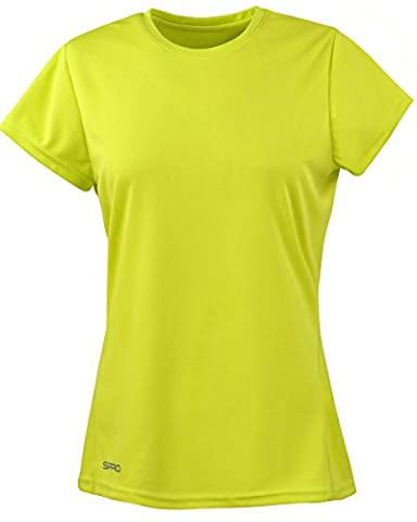 Spiro Womens/Ladies Sports Quick-Dry Short Sleeve Performance T-Shirt (S) (Lime
