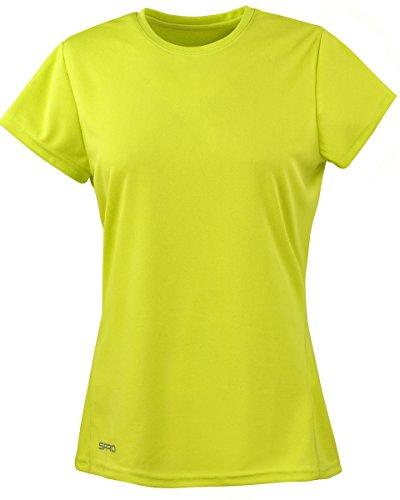 Spiro Womens/Ladies Sports Quick-Dry Short Sleeve Performance T-Shirt (M) (Lime Green)