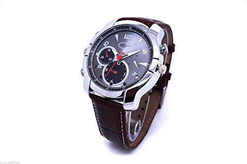 Spy Aufnahme Armbanduhr (HOKATec spritzwassergeschützte Video und Foto Uhr FULL HD / verstecke Kamera / Hidden Camera Cam Watch waterproof mit 4 GB INTERNEM Speicher, 3 MP, Auflösung: 1920 x 1080p, 30 fps (161))