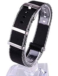 Bornbayb Bracelets de Montre en Nylon pour Femmes Bande en Nylon tressé avec des Anneaux en Acier Inoxydable (Largeur: 20 mm, 22 mm)