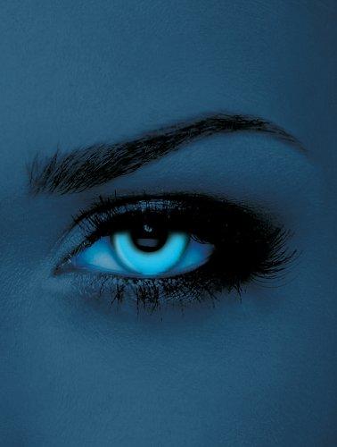Edit farbige Schwarzlicht UV-Kontaktlinsen Blau ohne Stärke für Halloween und Karneval (Eye Farbige Kontakte Blue)