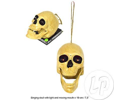 opf mit Musik Halloween gruselig Hexennacht Horror Dekoartikel Fasching Walpurgisnacht Karneval Pierros ()