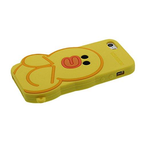 """Apple iPhone 5 (4.0"""") Coque, [popcorn, pop-corn TPU durable et flexible] couverture étui pour iPhone 5G, SE, 5C, iPhone 5S Case, anti-chocs, des empreintes digitales, les égratignures jaune"""
