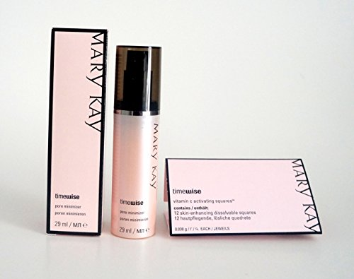 Mary Kay Timewise Microdermabrasion Pore Minimizer Poren Minimieren 29 ml MHD 2020 + Vitamin C Activating Squares12 hautpflegende,lösliche quadrate MHD 2020