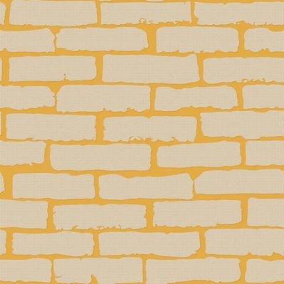 Preisvergleich Produktbild Tkopainsde Brick Wall Paper_Brick-Brick Wall Paper 3D-Geschäfte Und Friseur Wohnzimmer Restaurant Und Bar Cafe 100X, 1003 Kurkuma Gelb
