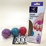Kit di palline da stringere per la terapia della mano, esercizi della mano per polsi, dita, avambraccio, rafforzamento