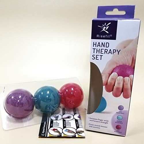 Juego de pelotas de mano terapéuticas, para fortalecimiento de muñecas,...