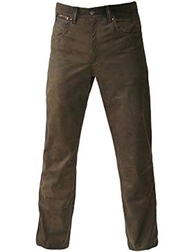 MADDOX Lederhose Glattleder Hose Leder Trachtenhose lang Trachten Lederjeans braun robustes Nubukleder Biker Jeans...