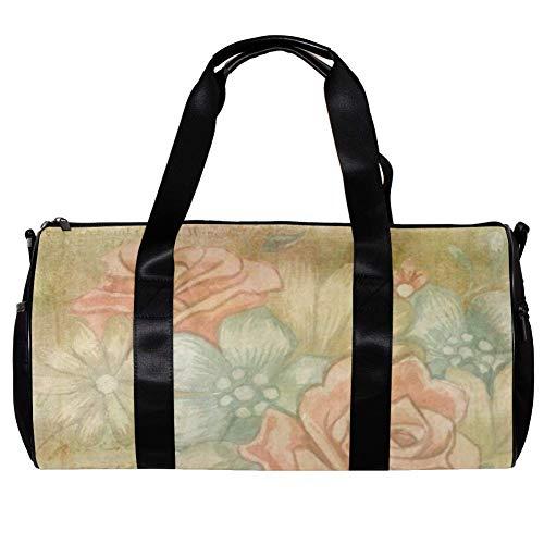 Veckgeng Große Sporttaschen für Männer und Frauen Tasche Sport Reißverschluss Geschenk Damen Sport Duffle Bag Gelb Süß 44,7 x 22,9 cm