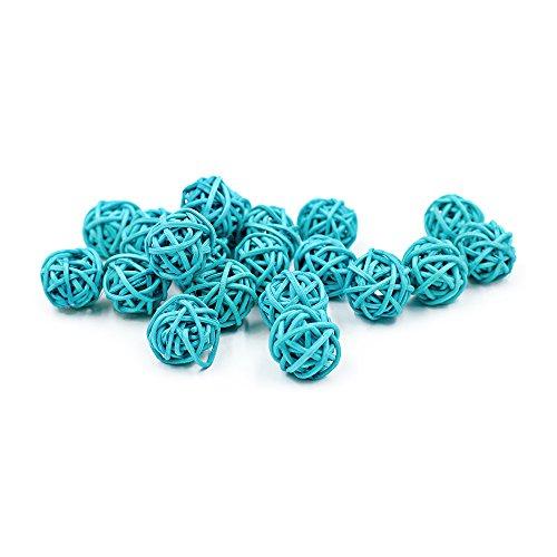 30Stück/Pack Colorful natur Rattan-Kugeln für Hochzeit Weihnachten Party Dekoration zum Aufhängen 2cm blau Blaue Kugel Ornamente