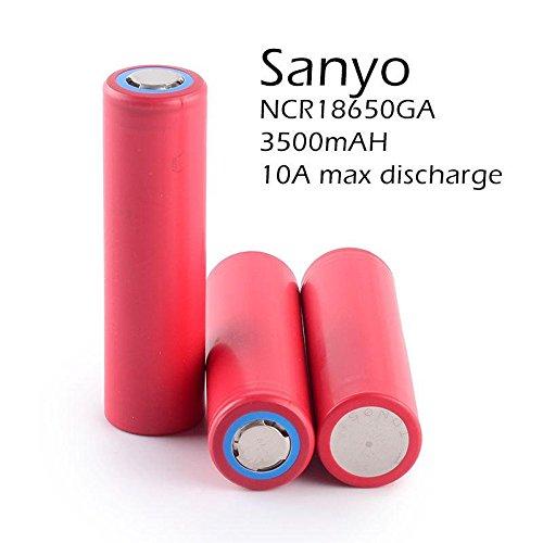 Sanyo/Panasonic ncr18650GA 3,6–3,7V 3500mAh 10A