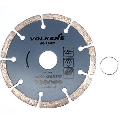 Diamanttrennscheibe für Stahlbeton Ø 115 x 22,2 mm Trennscheibe Beton Stein