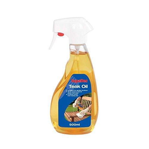 Teak Oil Trigger Bottle - Ideal for Garden Furniture - 500ml by Supadec