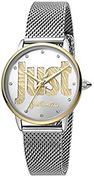 Just Cavalli Logo Women's Silver Dial Stainless Steel Analog Watch - JC1L116M