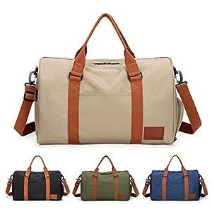 FEDUAN Handgepäck mit Schuhfach Trainingstasche Fitnesstasche Gym-Tasche Sporttasche hochwertige Reisetasche…