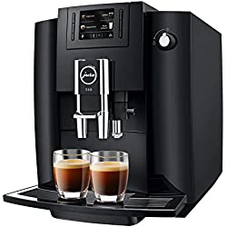 JURA E60 Piano Black Independiente Máquina espresso Negro 1,9 L 16 tazas Totalmente automática - Cafetera (Independiente, Máquina espresso, 1,9 L, Molinillo integrado, 1450 W, Negro)
