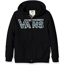 Vans VANS CLASSIC ZIP HOODIE BOYS - Sudadera para niños, color negro (black/hacienda), talla Small ( Small)