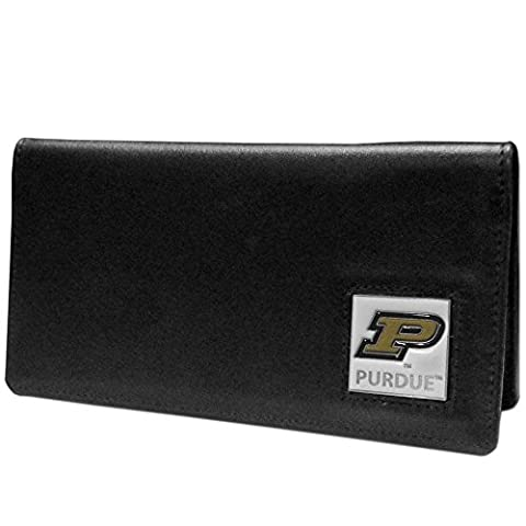 NCAA Purdue Boilermakers Leather Checkbook