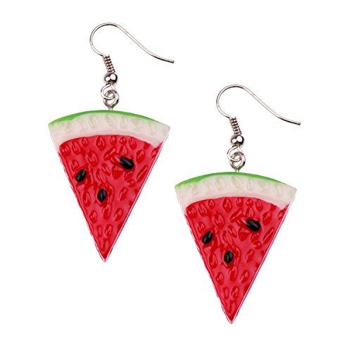 Snykk Wassermelonen-Ohrringe - 2 Stück – Melonen-Ohrringe (2 Stück Zwei Stück Kostüme)