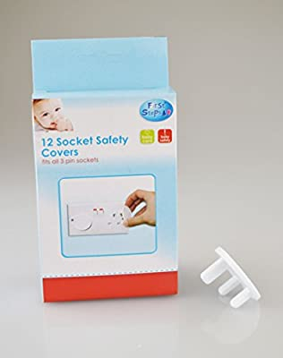 12 Home Safety Plug Socket Covers Baby & Child Proof Protector Guard Easy to Use from RSW