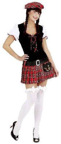 Faschingskostüm Damen Scottish Girl Schottin rot Gr. 44