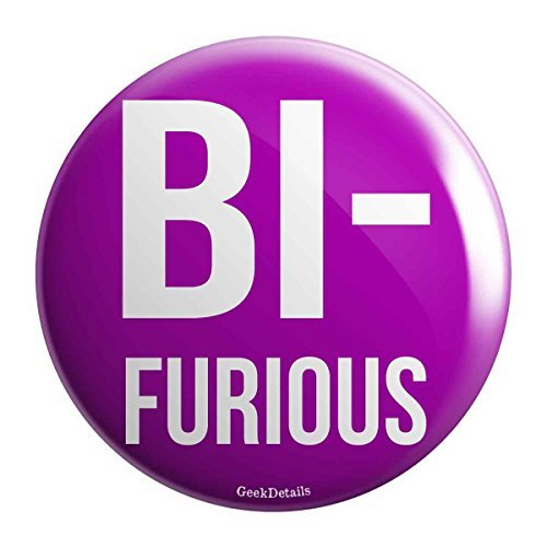 Geek Details Bisexual Themed Pinback Button BiFurious