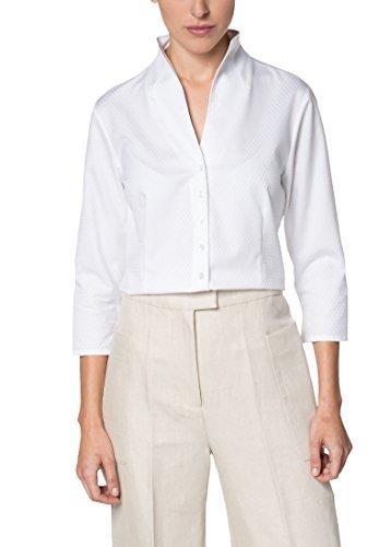 ETERNA Dreiviertelarm Bluse COMFORT FIT unifarben Weiß