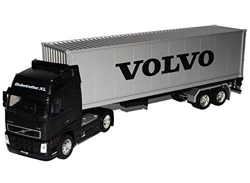 Volvo FH12 40' Container LKW Truck Schwarz 1/32 Welly Modell Auto mit individiuellem Wunschkennzeichen