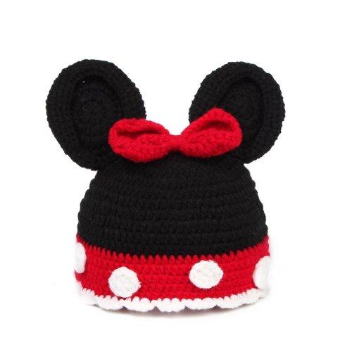 Imagen de v sol negro y rojo ropa disfraz fotografía proposición estilo ratón gorro para bebé niño niña 0 24 meses