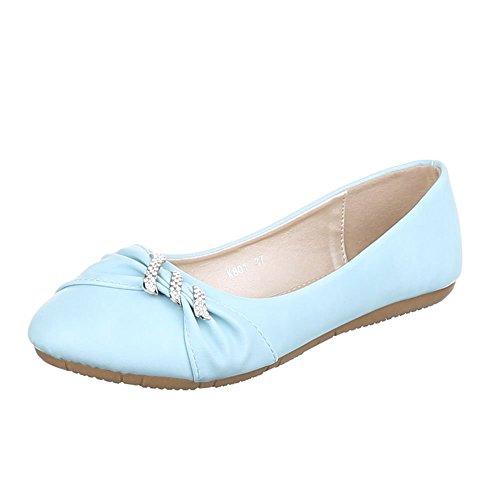 Ital-Design - Scarpe chiuse Donna Blu (blu chiaro)