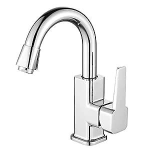 Homelody ® chrome mitigeur monocommande pour évier de cuisine robinet mitigeur de lavabo robinet mitigeur d'évier salle de bains robinet pour évier de cuisine