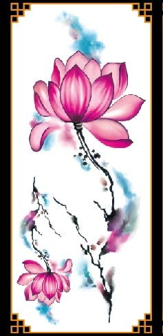 Z Lamp 1 Neue Gefälschte Temporäre Tattoo Aufkleber 28 Stil Violett Blume Rose Arm Schulter Tattoo Wasserdichte Frau Großen Körper Beine (Body Paint Halloween Kostüme Für Frauen)
