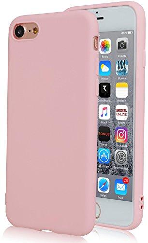 Movoja rosa Matte Hülle kompatibel mit iPhone 7 / iPhone 8 | Rosa matt | Bekannte Passform | Schutzhülle Case Matt Cover - matt Rosa