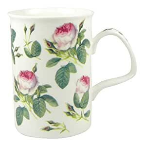 Roy Kirkham Redoute Rose Chintz Fine English Bone China Mug by Roy Kirkham