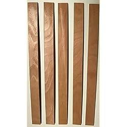 SCM Créations Lot de 5 Lattes 560/53/8 56 cm pour clic clac, bz, sommier, Cadre a Lattes