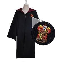 Gryffindor Disfraz de Harry Potter Capa Unisex-Niño Adulto Traje Robe Mago / Mago Robe Vestido Diferente Tamaño (rojo,XL)
