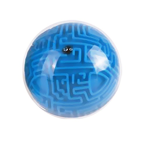 Mini Magic 3D Labyrinth Puzzle Ball, Intelligence Dekompression Toys Learning Bildung Puzzle Cube Labyrinth Ball Idee Toys Super tolle Geschenke für Kinder, plastik, blau, 4.02 inch