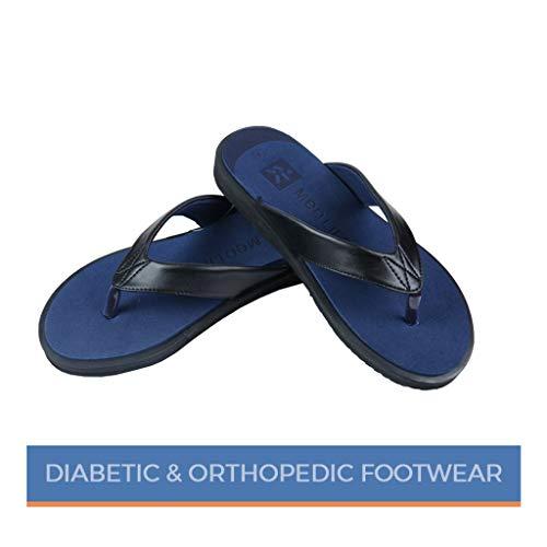 MEDLIFE Men's Diabetic Footwear - Blue (11, Blue)