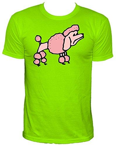 NEON Herren T-Shirt rosa Pudel_neongrün_XL