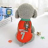 UD-strap Coppa del Mondo Cane Jersey, Calcio T-Shirt Cani Costume, Nazionale Calcio Cane Pigiama FIFA Jersey Gatti Onesie per Cani E Gatti 4XL Sec