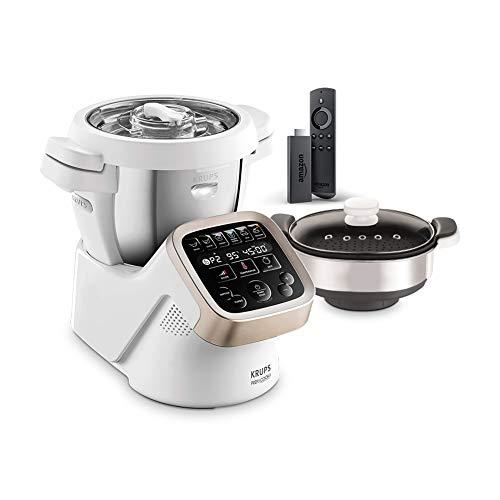 Krups Prep&Cook HP5031 Küchenmaschine + Dampfgaraufsatz XF552D + Fire TV Stick mit Alexa-Sprachfernbedienung